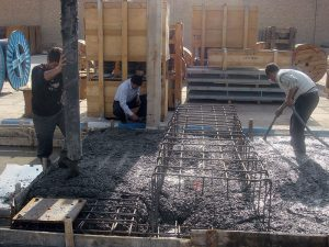 on-site concrete pouring